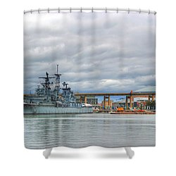 Shower Curtain featuring the photograph Uss Little Rock by Michael Frank Jr