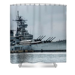 Uss New Jersey Shower Curtain by Jennifer Ancker