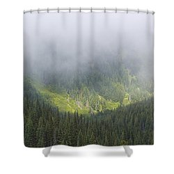 Valley Light Shower Curtain by Heidi Smith