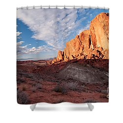 Valley Of Fire Shower Curtain by Art Whitton