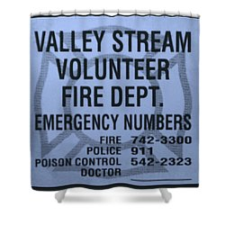 Valley Stream Fire Department In Cyan Shower Curtain by Rob Hans