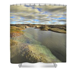 Valley Stream Shower Curtain