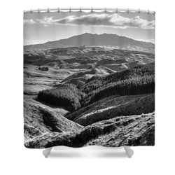 Valley View Shower Curtain by Les Cunliffe