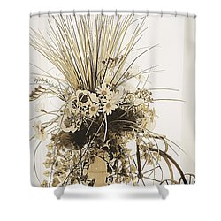 Vase With Flowers On A Window Table Shower Curtain
