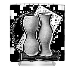Vases Shower Curtain by Mauro Celotti