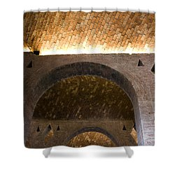 Shower Curtain featuring the photograph Vaulted Brick Arches by Lynn Palmer