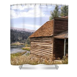 Vc Backyard Shower Curtain
