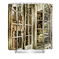 Vc Window Reflection Shower Curtain by Susan Kinney