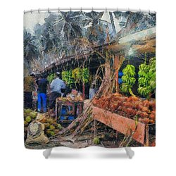 Vegetable Sellers Shower Curtain