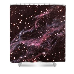 Veil Nebula In Cygnus Shower Curtain by USNO / Science Source
