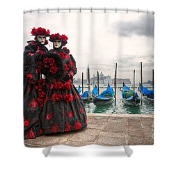 Shower Curtain featuring the photograph Venice Carnival Mask by Luciano Mortula