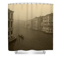 Shower Curtain featuring the photograph Venice by David Gleeson