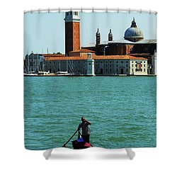 Venice Gandola Shower Curtain