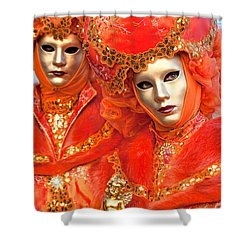 Shower Curtain featuring the photograph Venice Masks by Luciano Mortula