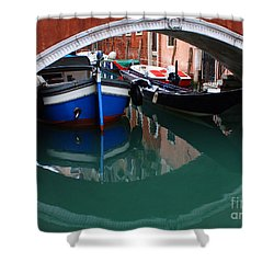 Venice Reflections 2 Shower Curtain by Bob Christopher