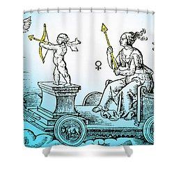 Venus, Roman Goddess Of Love Shower Curtain by Photo Researchers