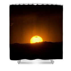 Venus Transit Setting Over The Rocky Mountains Shower Curtain