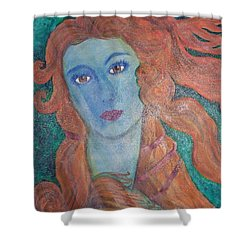 Shower Curtain featuring the painting Venus's Haze by Lucia Grilletto