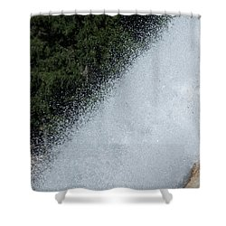 Vernal Falls On The Mist Trail At Yosemite Np Shower Curtain