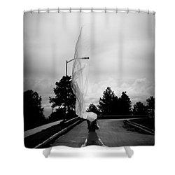Vertical Cloth Wind  Shower Curtain by Scott Sawyer