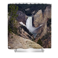 Vertical Lower Falls Of Yellowstone Shower Curtain by Living Color Photography Lorraine Lynch