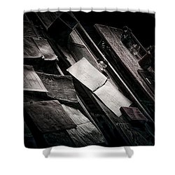 Vertigo Learning Shower Curtain by Empty Wall