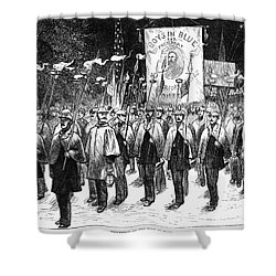 Veteran March, 1876 Shower Curtain by Granger
