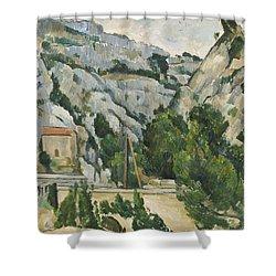 Viaduct At L'estaque Shower Curtain by Paul Cezanne