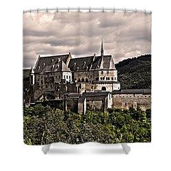 Vianden Castle - Luxembourg Shower Curtain by Juergen Weiss