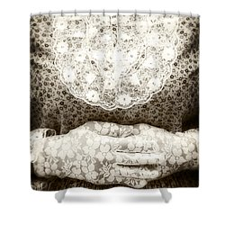 Victorian Hands Shower Curtain by Joana Kruse