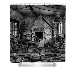 Victorian Locksmith's Workshop Shower Curtain by Adrian Evans