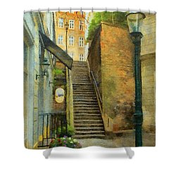 Viennese Side Street Shower Curtain by Jeff Kolker