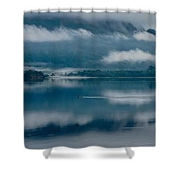 View At Sunset From The Lake Hotel In Killarney Ireland Shower Curtain