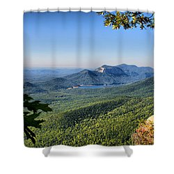 View From Caesar's Head Shower Curtain by Lynne Jenkins