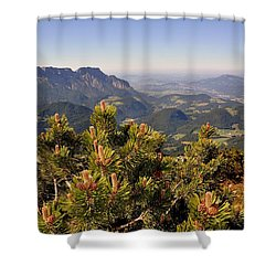 View From Eagles Nest Shower Curtain by Rick Frost