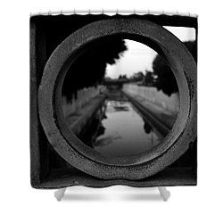Shower Curtain featuring the photograph View From The Bridge by Nina Prommer