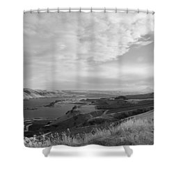 Shower Curtain featuring the photograph View From The Hill Columbia River by Kathleen Grace