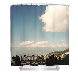 Shower Curtain featuring the photograph View From The Window by Fotosas Photography
