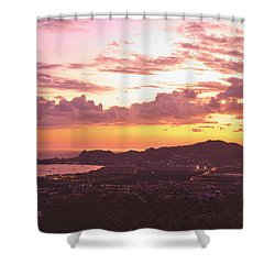 View Of Cabo San Lucas And Tip Of Baja Shower Curtain by Stuart Westmorland
