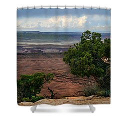 View Of Canyonland Shower Curtain by Robert Bales