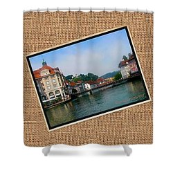 View Of Lucerne, 2001 #vacations Shower Curtain