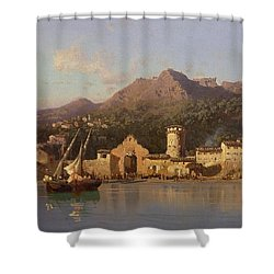 View Of Taormina Sicily Shower Curtain by Alessandro la Volpe