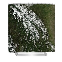 View Of The Rocky Mountains Shower Curtain by Stocktrek Images