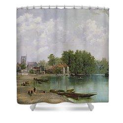 View Of Twickenham Shower Curtain by W Howard