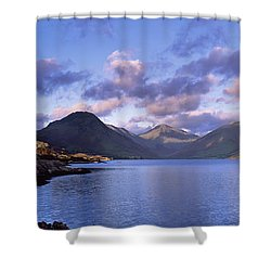 View Of Wastewater, Located In The Lake Shower Curtain by Axiom Photographic
