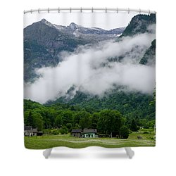 Village In The Alps Shower Curtain