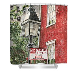Village Lamplight Shower Curtain by Debbie DeWitt