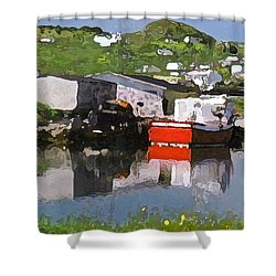 Shower Curtain featuring the photograph Villiage by Lydia Holly