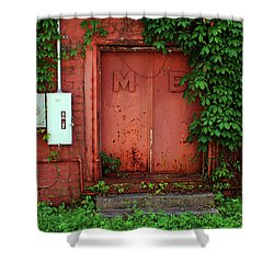 Shower Curtain featuring the photograph Vines Block The Door by Paul Mashburn