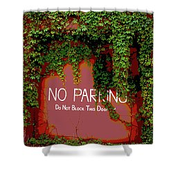 Shower Curtain featuring the photograph Vines Blocking The Door by Paul Mashburn